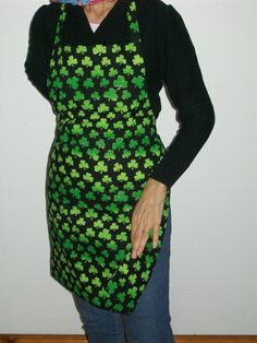 Reversible St Patricks Day Apron with by TheLazyChickenCoop, $10.00