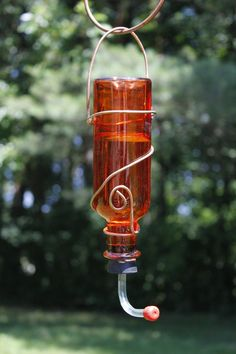 DeeLuxDesigns on Etsy  I put it in DIJ because I've been known to save blue wine bottles to do this with.  Cool eh!?