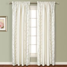 United Curtain Addison Embroidered Curtain Panel - Curtain Panels at Hayneedle