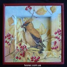 Панно «Рябиновая осень» http://dcpg.ru/mclasses/ryabina/ Click on photo to see more! Нажмите на фото чтобы увидеть больше! decoupage art craft handmade home decor DIY do it yourself tutorial