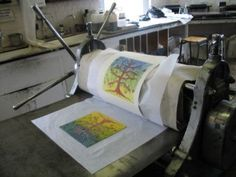 Collagraph step by step....Live Studio- Collagraph Printing from Printmaking, Pyrography, Scratchboard articlesArticles
