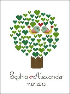 Digital item cross stitch wedding personalized by LaMariaCha, $9.00