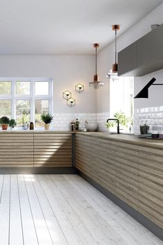 Nyhed: Coffee Oak Line - Nelly Kitchen Family Rooms, Kitchen Living, New Kitchen, Scandinavian Kitchen, Scandinavian Interior, Scandinavian Style, Küchen Design, Interior Design, Wooden Kitchen