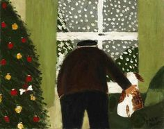 gary bunt(1957- ), white christmas. 10 x 12 ins. portland gallery, london, uk http://www.portlandgallery.com/exhibition/227/Gary_Bunt/item/26973