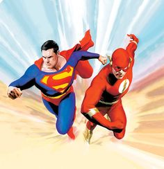 Superman vs. the Flash by Alex Ross
