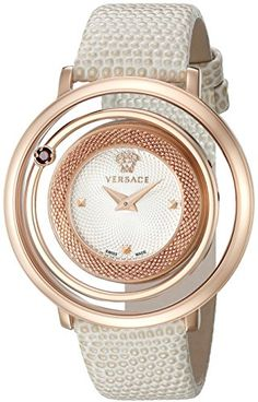 Versace Women's VQV060015 Venus Analog Display Quartz Beige Watch * You can find more details by visiting the image link.