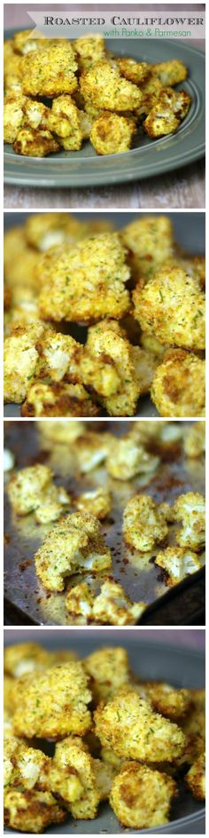 Roasted Parmesan Cauliflower Bites with Panko Breadcrumbs - Cauliflower takes on a whole new flavor when roasted rather than boiled.