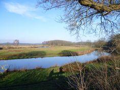 2014-01-05 Uitzicht vanaf een baankie over de Regge bij de Velderberg