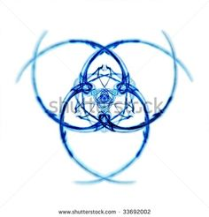 Detailed, Deep Blue And White Triquetra Symbol Stock Photo ...