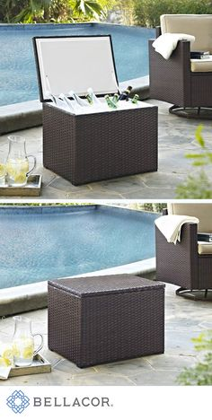 Save 39% on Crosley Furniture Palm Harbor Outdoor Wicker Cooler