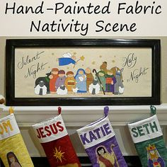 Helping Little Hands: Painted Fabric Nativity Scene Tutorial-- maybe if I start now I could have this done by NEXT Christmas??