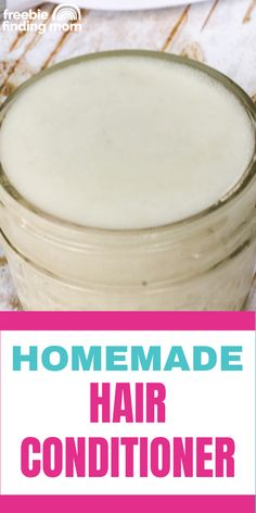 Do you want an all-natural hair conditioner that will give you luxurious locks without using any harmful ingredients? Thanks to this Homemade Hair Conditioner recipe you are only 4 ingredients and 3 steps away! That's right this easy to make DIY hair conditioner can be whipped together in about ten minutes and for much less than store bought products. Give it a try today! Homemade Hair Conditioner, Natural Hair Conditioner, Homemade Beauty Recipes, Homemade Beauty Products, Natural Hair Recipes, Natural Hair Styles, 4 Ingredient Recipes, Ten Minutes, Cleaners Homemade