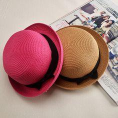 Panama Girls Sun Hat Summer Floral Cap Female Winter Straw Hat Bow Flat Top Beach Sun Visor Hat Capeline Chapeaux Femme Sombrero
