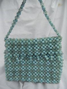 Vintage Beaded Handbag Purse Solid Beads by shastago1 on Etsy, $40.00