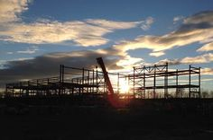 December 2015 steelwork at sunset #UTC #schools #engineering