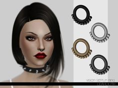 The Sims Resource: Vision Septum Ring by LeahLilith • Sims 4 Downloads