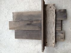 Barn wood shelf made by VanHettRustics...Lee's next project for my living room