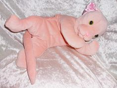 Stuffed animal #CAT hairless #SPHYNX #KITTEN plush peach #handmade floppy soft cat #pastell plushie floppy cat soft toys unique ooak cat breeds Handmade by TALLhappyCOLORS more soft cats http://etsy.me/2dF0CYy