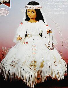 Discounts!  #Fibre Craft Indian Princess IV Doll with Crochet Pattern 3202  2002 https://www.bonanza.com/listings/336035232