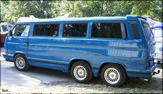 Vw with double axle Vw Bus T3, Auto Volkswagen, Bus Camper, Vw T1, Campers, Volkswagon Van, Vw Vanagon, Combi T1, Vw Caravan