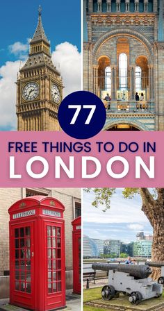 These are the best, most incredible and totally free things to do in London! A ton of museums, galleries, and collections offer free admission in the British capital. On top of that, you can explore churches, parks, quirky neighborhoods, and vibrant markets for free in London, England. | Free Things to Do in London | London Free Things to Do | Free Activities in London | London for Free | #london #freethingstodo #england #freelondon #freeactivities Things To Do In London, Free Things To Do, Fun Things, London Travel, London England Travel, Interesting Facts About London, Europe Travel Guide, Budget Travel, London Free