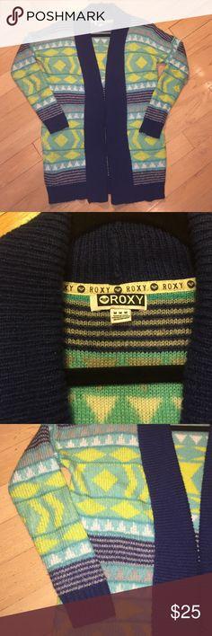 Roxy oversized boyfriend sweater Patterned. Non smoking home Roxy Sweaters Cardigans