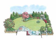 Hummingbird Garden Landscape (HWBDO11022) | House Plan from BuilderHousePlans.com