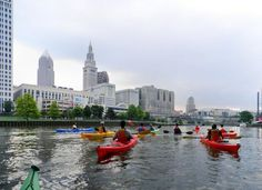 Kayaking. This picture was taken near Columbus, Ohio.