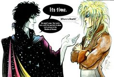 """sandman and bowie // Fans of both David Bowie and Neil Gaiman's Sandman will love this beautiful tribute to the Thin White Duke. The artist's last name is """"Salier"""""""