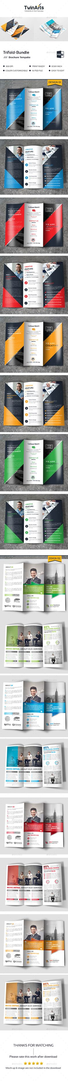 Tri-fold in 1 - Brochures Print Templates Indesign Brochure Templates, Travel Brochure Template, Bi Fold Brochure, Business Brochure, Brochure Design, Booklet Design, Pose, Corporate, Print Templates