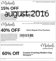 Free Printable Coupons: Michaels Coupons