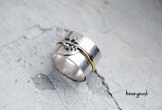 Серебряное кольцо с золотом купить honeypunk