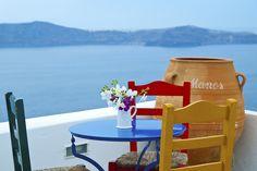 Manos Small World #Hotel balcony, #Santorini Island, #Greece