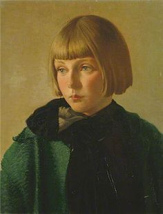 This reminds me of Constance's sister Mary. (Mary by Louis Ginnett: British 1875–1946)