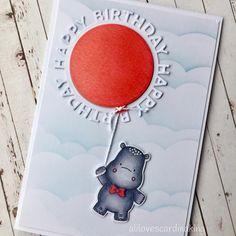 Happy Birthday Kids, Kids Birthday Cards, Handmade Birthday Cards, Pretty Cards, Cute Cards, Scrapbook Cards, Scrapbooking, Hand Stamped Cards, Mft Stamps