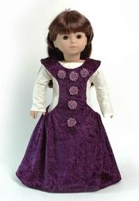 Historical 18 Doll Clothes Pattern for Medieval by CARPATINA