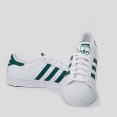 factory authentic c2370 d70b7 Scarpe Adidas Uomo Superstar Bianco Verde