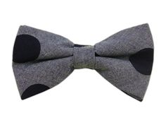 Chambray Dots - Dark Blue (Cotton Bow Ties) -- THE TIE BAR