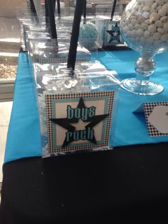 Boys Rock Baby Shower Candy Apples