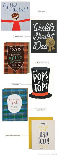 A little Fathers Day card round up - love print studio blog