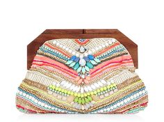 This rainbow-colored clutch is the perfect accessory for spring.
