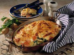Oh wie lecker! Diese Kartoffel-Spinat-Lasagne ist ein wahrer Traum!