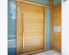 Wood Garage Doors, Wood Entry Doors, Entrance Doors, House Entrance, Modern Wood Doors, Modern Entry Door, Iron Doors, Custom Wood, Door Design