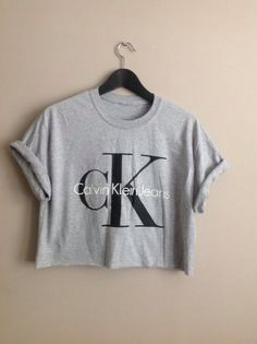 Old school grey calvin klien crop top urban swag ibiza festival unique ck1