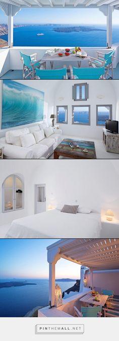 Villa Gaia- Santorini, Greece- WIMCO Villas, 3 bed 3 baths #travel #greece #santorini #mediterranean #villarentals #vacation