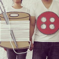 Button and thread couple costume
