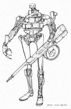 Cyborg mech ✤ || CHARACTER DESIGN REFERENCES | キャラクターデザイン | çizgi film • Find more at https://www.facebook.com/CharacterDesignReferences & http://www.pinterest.com/characterdesigh if you're looking for: #grinisti #komiks #banda #desenhada #komik #nakakatawa #dessin #anime #komisch #manga #bande #dessinee #BD #historieta #sketch #strip #cartoni #animati #comic #komikus #komikss #cartoon || ✤