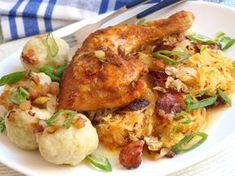 20 nejlepších sezónních receptů z kysaného zelí, strana 2 Sauerkraut, Veg Recipes, Cooking Recipes, Good Food, Yummy Food, Party Finger Foods, Main Meals, Chicken Wings, Poultry
