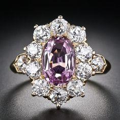 TIFFANY AND COMPANY TOPAZ   Tiffany & Co. Antique Pink Topaz and Diamond Ring circa 1900 ...