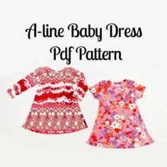 A line Baby Dress Pattern - MammaCanDoIt  - 1